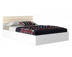 Кровать Виктория-МБ 140 белая с матрасом ГОСТ