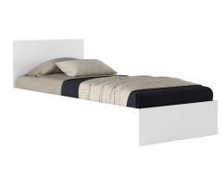 Односпальная кровать Виктория 90 белая с матрасом Promo B Cocos