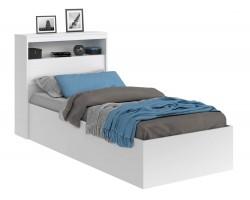 Кровать Виктория белая 90 с блоком