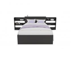 Кровать Доминика с блоком 120 (Венге) матрасом ГОСТ