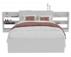 Кровать Доминика с блоком 120 (Белый) матрасом ГОСТ
