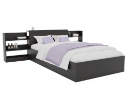 Кровать Доминика с блоком 120 (Венге) матрасом PROMO B COCOS
