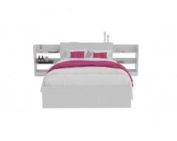 Кровать Доминика с блоком 120 (Белый) матрасом АСТРА