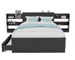 Кровать Доминика с блоком и ящиками 120 (Венге) матрасом ГОСТ