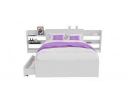 Кровать с матрасом Доминика блоком и ящиками 120 (Белый) ГОСТ