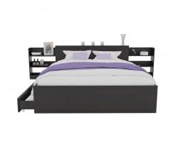 Кровать Доминика с блоком и ящиками 120 (Венге) матрасом АСТРА