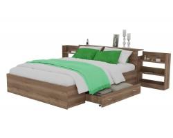 Кровать Доминика с блоком и ящиком 140 (Дуб Золотой)