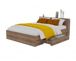 Кровать Доминика с блоком и ящиком 160 (Дуб Золотой) матрасом