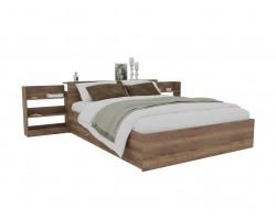 Кровать Доминика с блоком и ящиками 160 (Дуб Золотой) матрасом